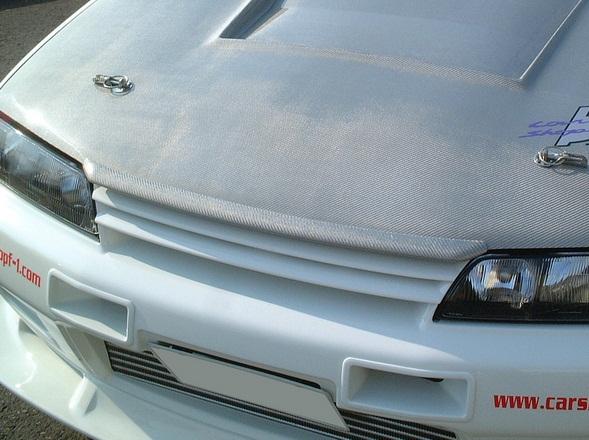 NISSAN R32 Skyline GTR GTS BNR32 ECR3 carbon bonnet bug guard