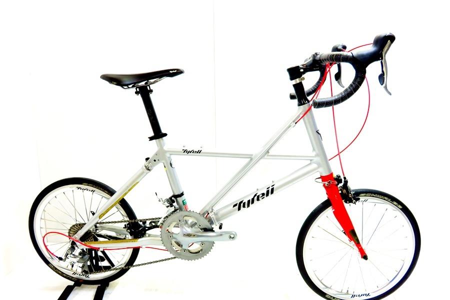 徳山)タイレル TYRELL FX 年式不明 アルミ 折りたたみ自転車 Mサイズ グレ